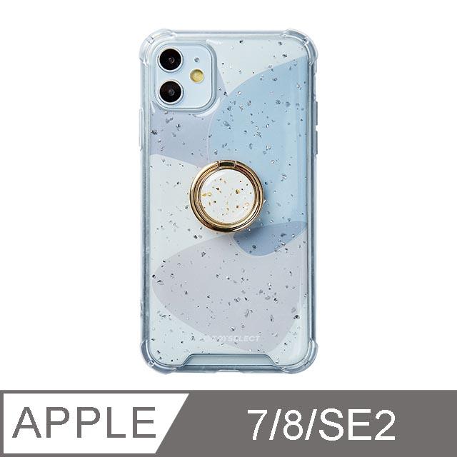 iPhone 7/8/SE2 4.7吋 風雅紫秘氣墊iPhone防摔殼 附贈同款電鍍指環支架