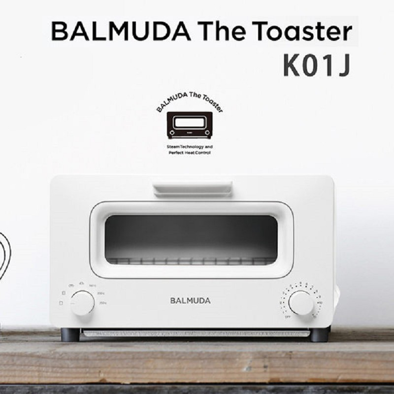 BALMUDA The Toaster K01J -白色 蒸氣烤麵包機 蒸氣水烤箱 日本必買百慕達 公司貨 保固一年(贈原木砧板)