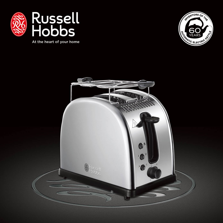 英國羅素 Russell Hobbs Legacy 晶亮烤麵包機(銀)