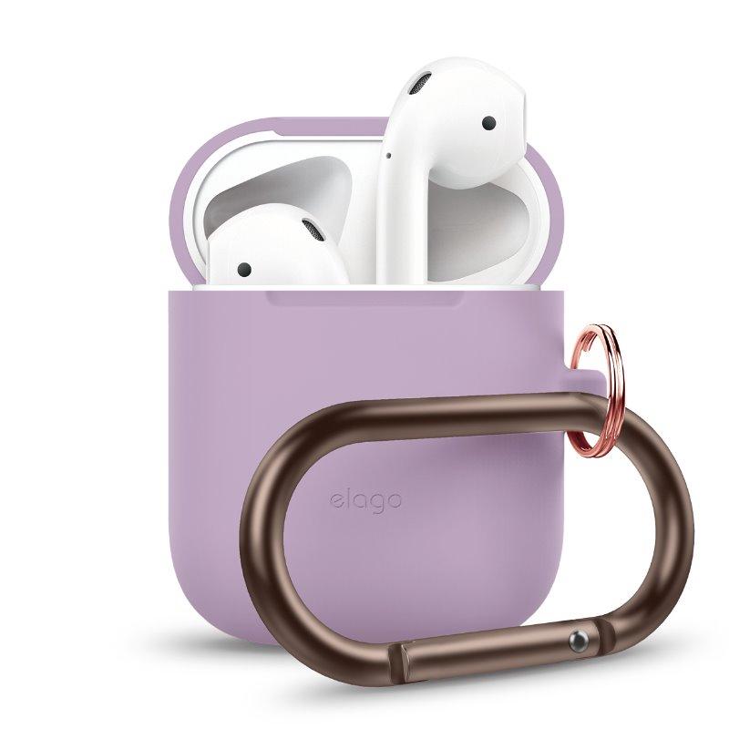 Elago AirPods隨身扣環保護套-紫(適用二代AirPods)
