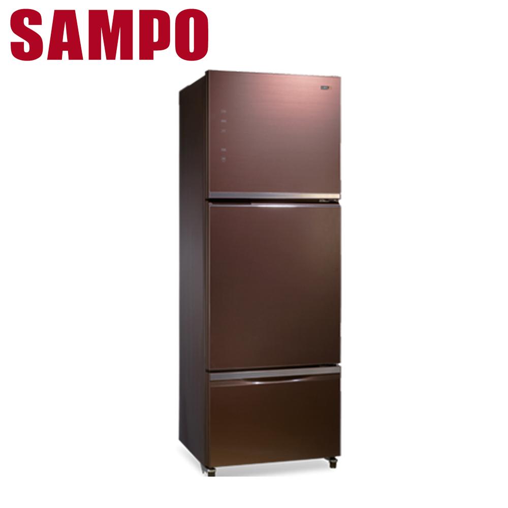 好禮送【SAMPO聲寶】530公升玻璃變頻三門冰箱SR-A53GDV(R7)