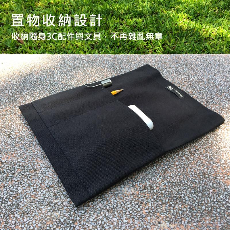 【RA】Canvas bag 磁吸帆布平板電腦保護袋-黑色 for 2018 ipad 9.7吋/ipad pro 10.5吋/iPad mini 7.9吋相容