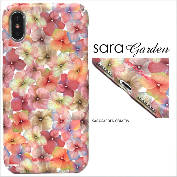 【Sara Garden】客製化 全包覆 硬殼 蘋果 iphoneX iphone x 手機殼 保護殼 粉嫩碎花