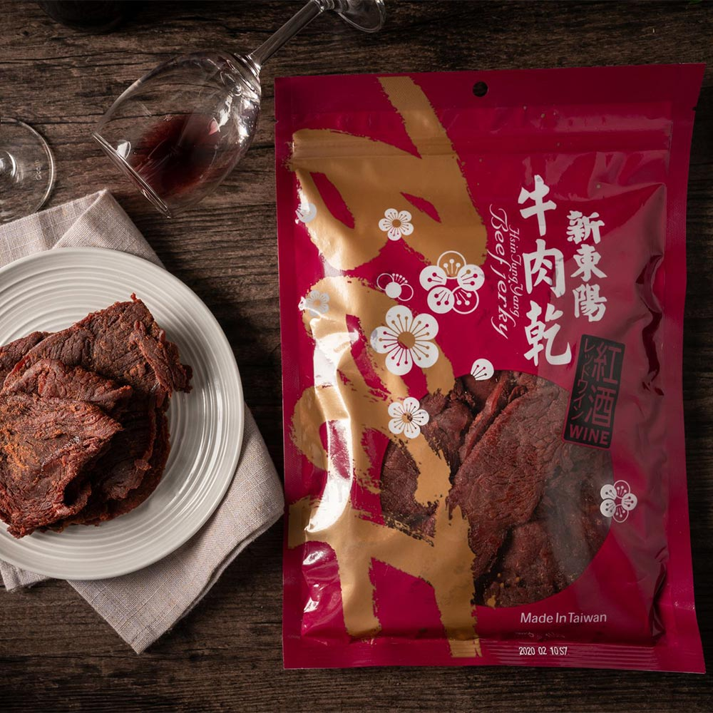 【新東陽】紅酒牛肉乾(220g*2包)